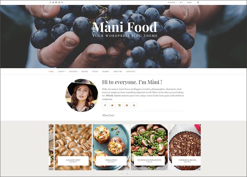 Food WordPress Blog