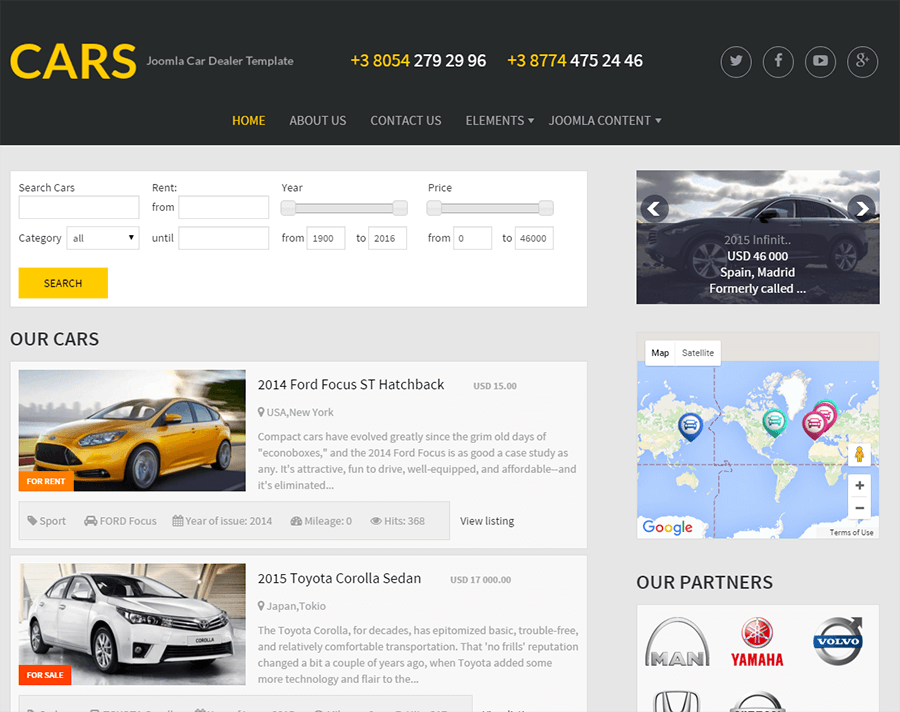 Free Joomla Car Dealer Template