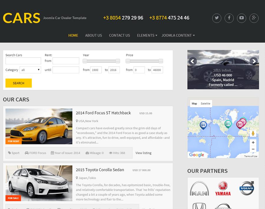 Free Joomla Car Dealer Template