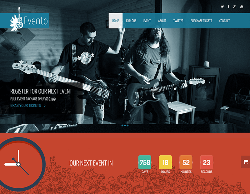 Free Music Event Bootstrap Template