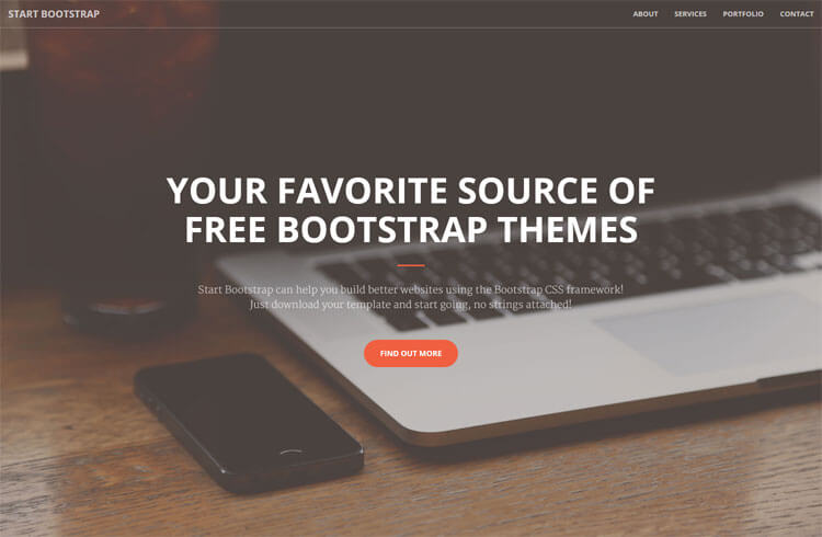 Free One Page Bootstrap Theme