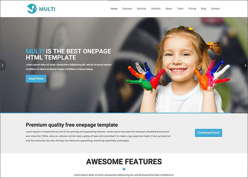 Free Responsive Bootstrap & HTML Template