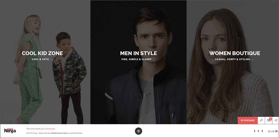 Full Screen Fashion WooCommerce Theme
