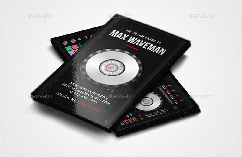 Fully Editable DJ Business Card