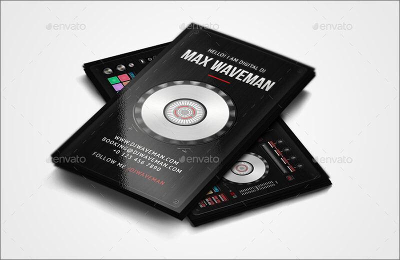 Fully Editable DJ Business Card