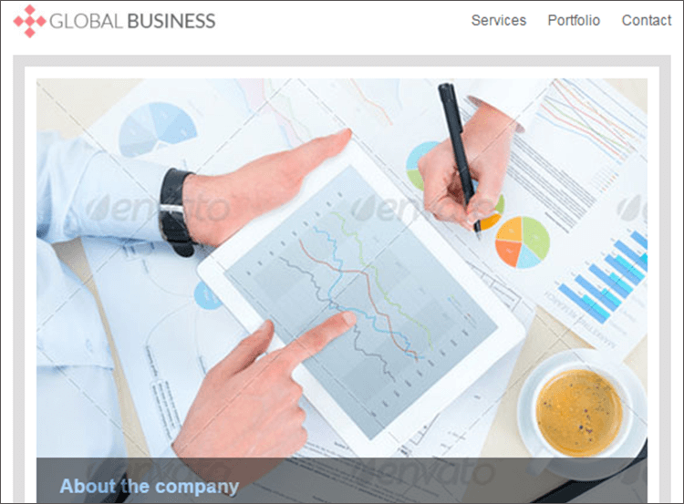 Fully Responsive Business Email Template