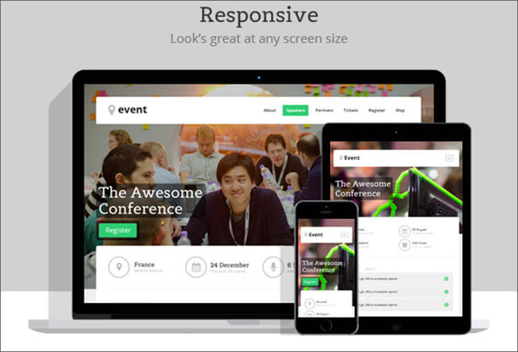 Fully Responsive Event Landing Page