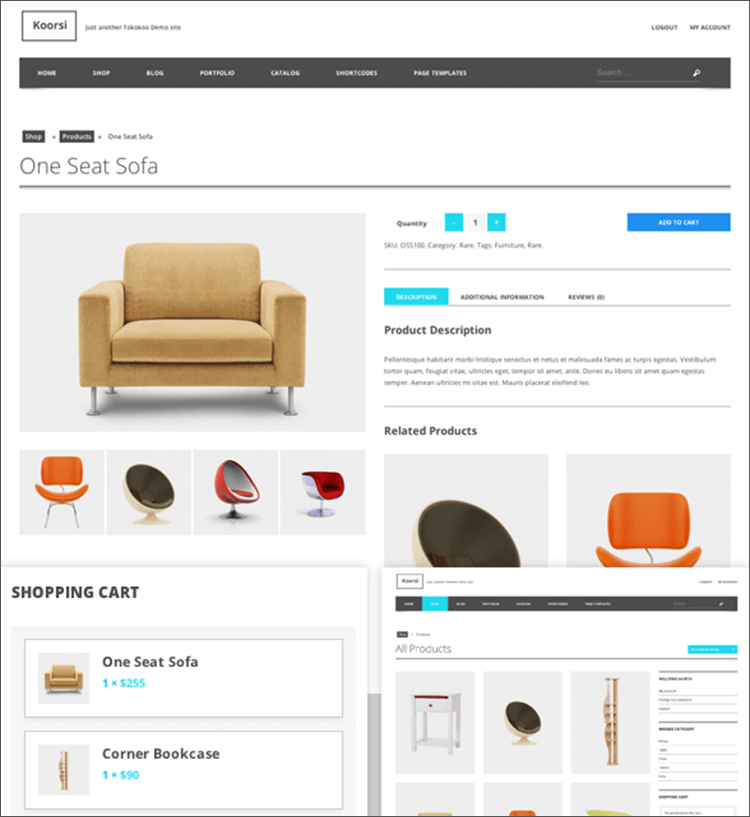 Furniture Online Store WooCommerce Theme
