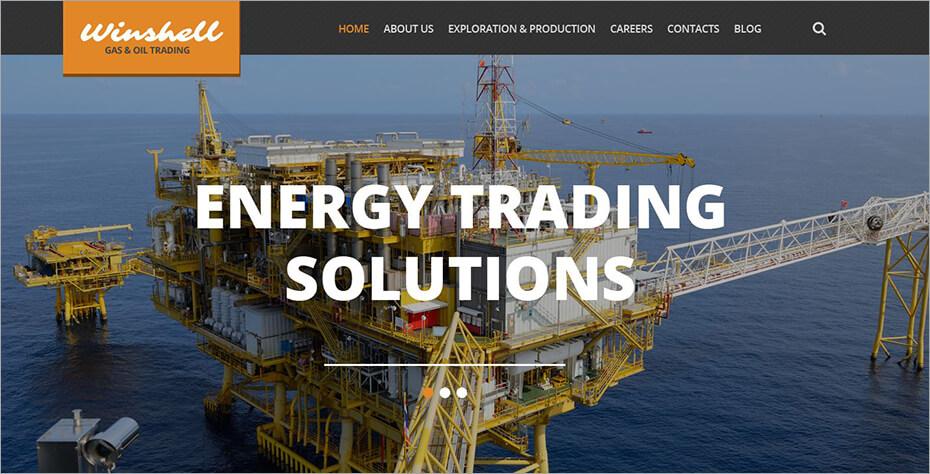 Gas & Oil Trading WordPress Theme