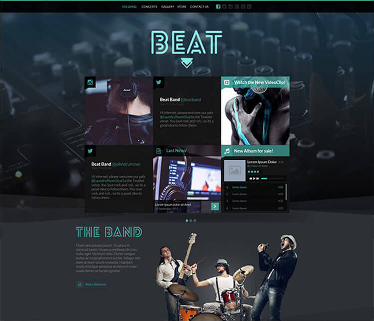 HTML5 Music & Band Blog Template