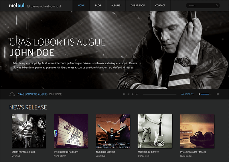 HTML5 Music Blog Template