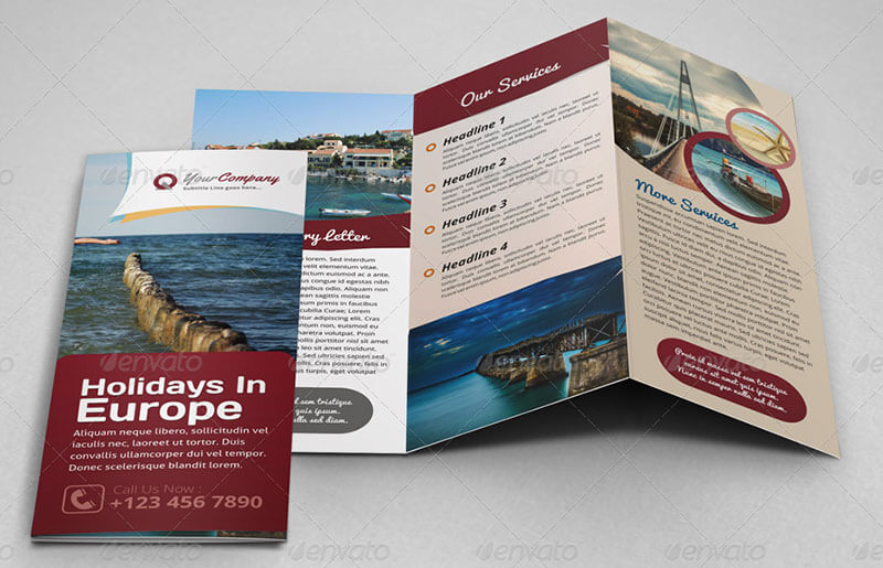 Holiday Trifold Brochure Template