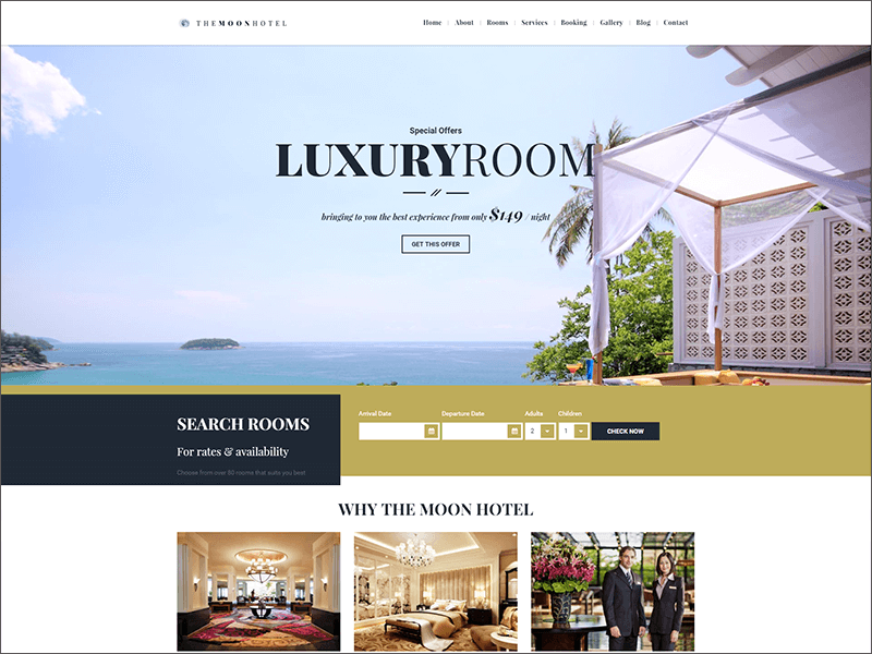 Hotel HTML & Bootstrap Template