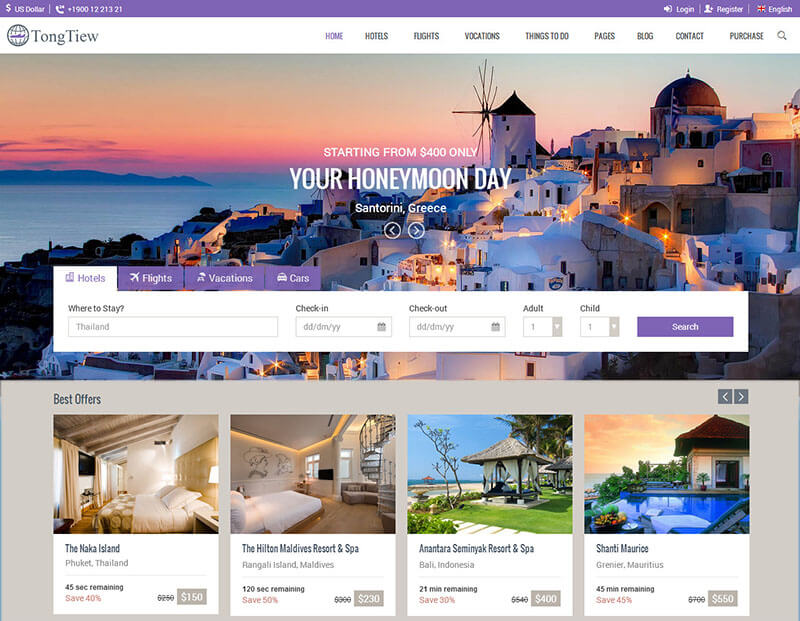 Hotel Responsive Bootstrap Templat