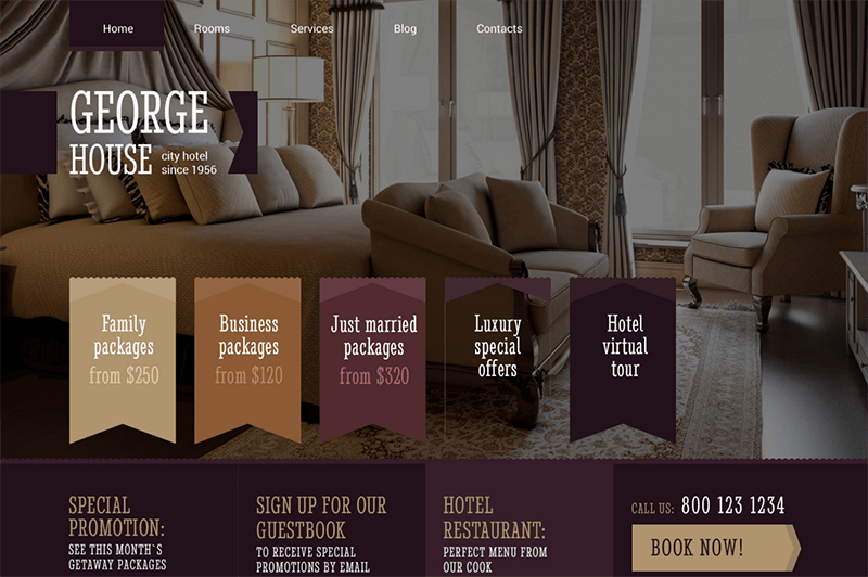 Hotels Responsive WP Bootstrap Theme