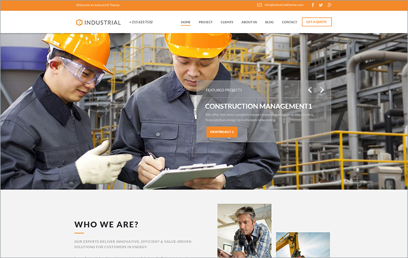 Industrial Architects WP Theme