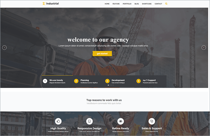 Construction & Industry WP Theme