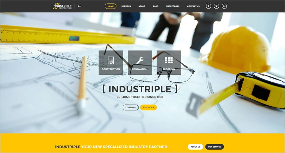 Multi Industrial WordPress Theme