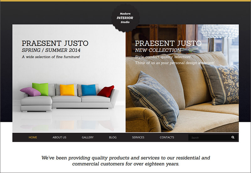 Interior Art Joomla Template