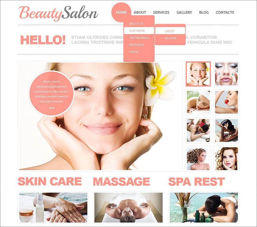 Joomla Beauty Salon Template