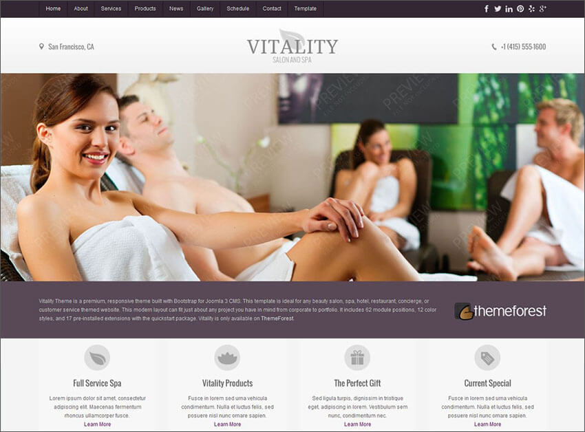 Joomla Health & Beauty Salon Theme