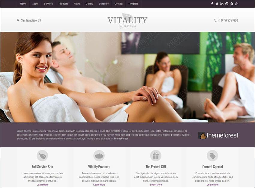 Joomla Health & Beauty Salon Theme