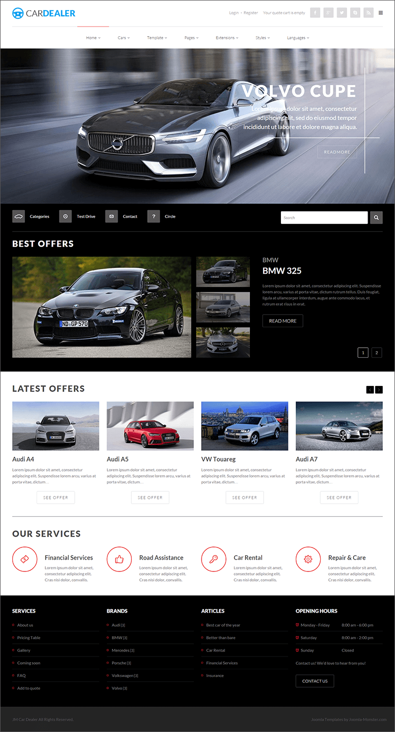Joomla Template For Car Dealer