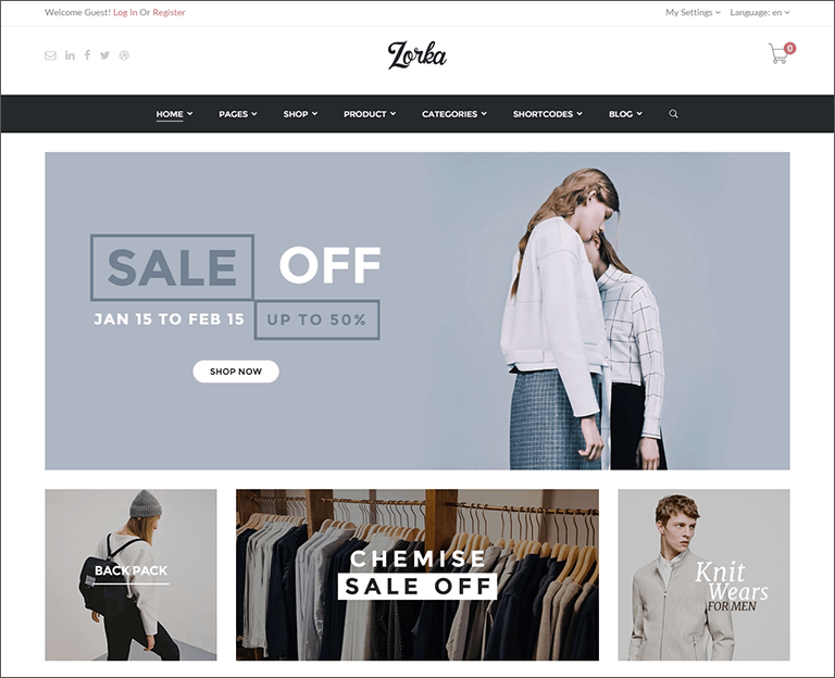 Latest Fashion WooCommerce Theme