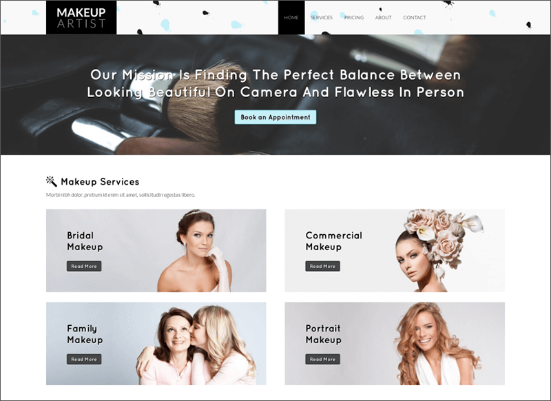 Makeup Artist WP Template