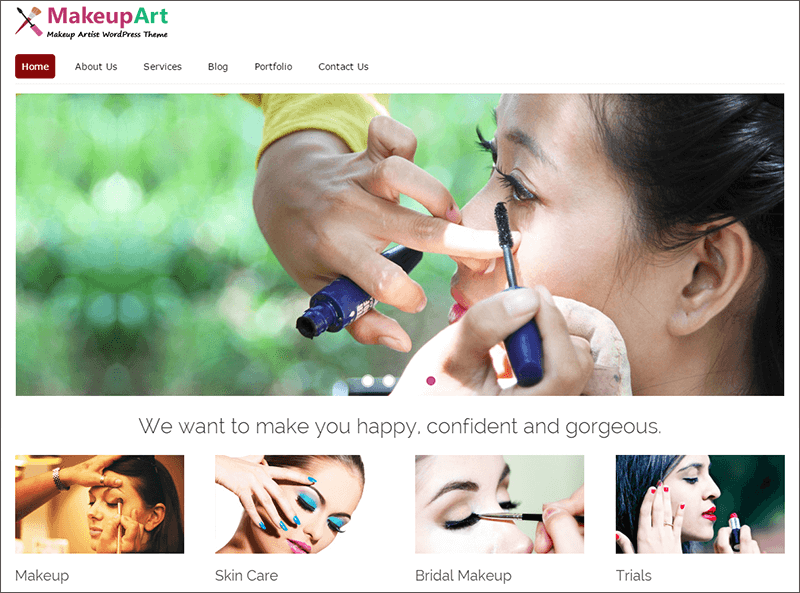 Makeup Artist WP Theme