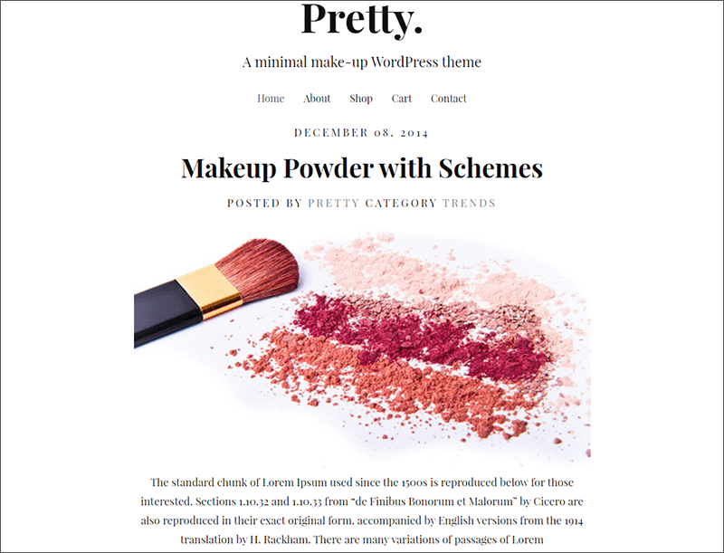 Makeup Responsive WordPress Theme