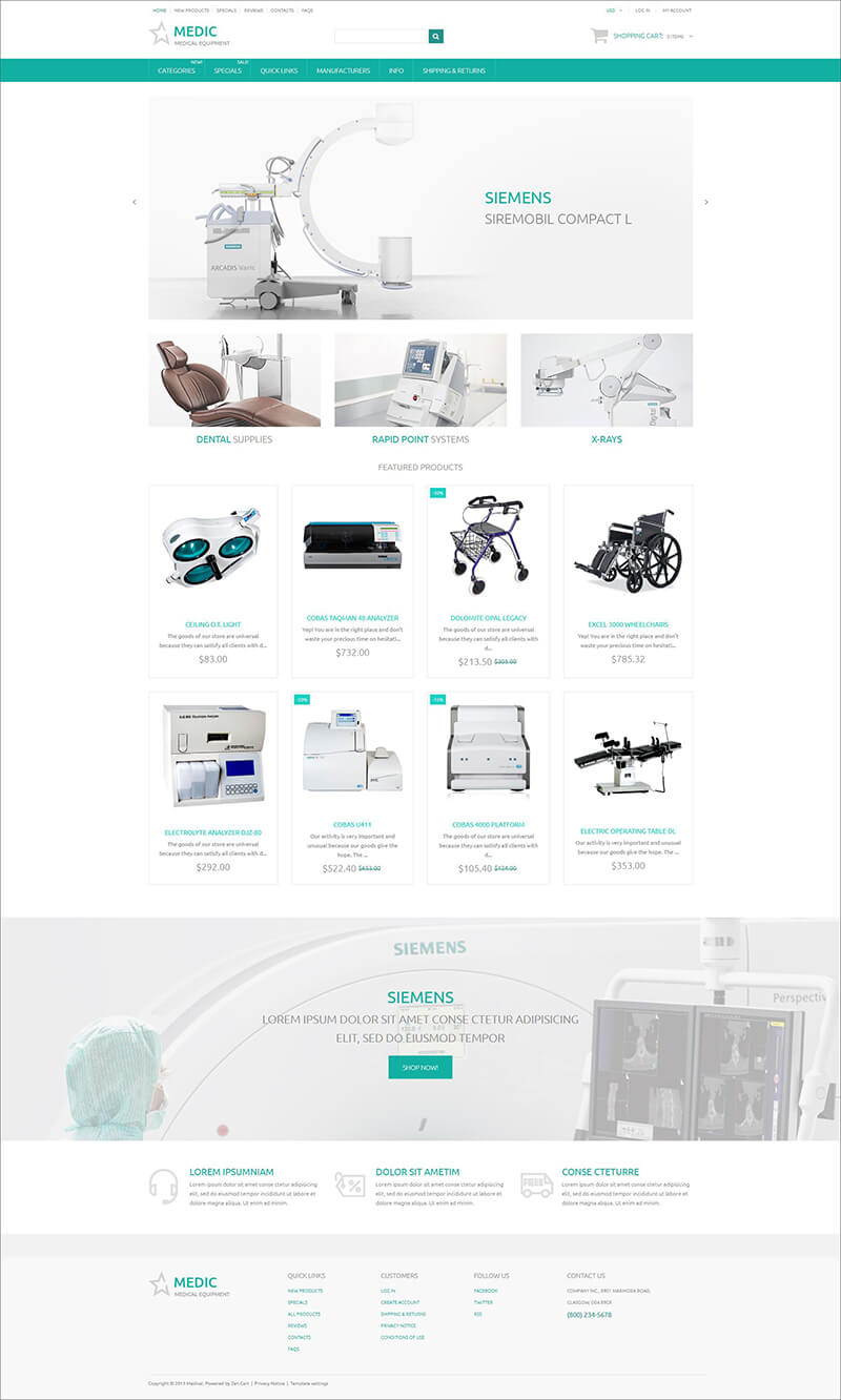 Medical Zen Cart Template