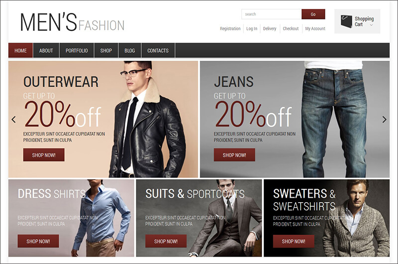 Men's Fashion WooCommerce Template