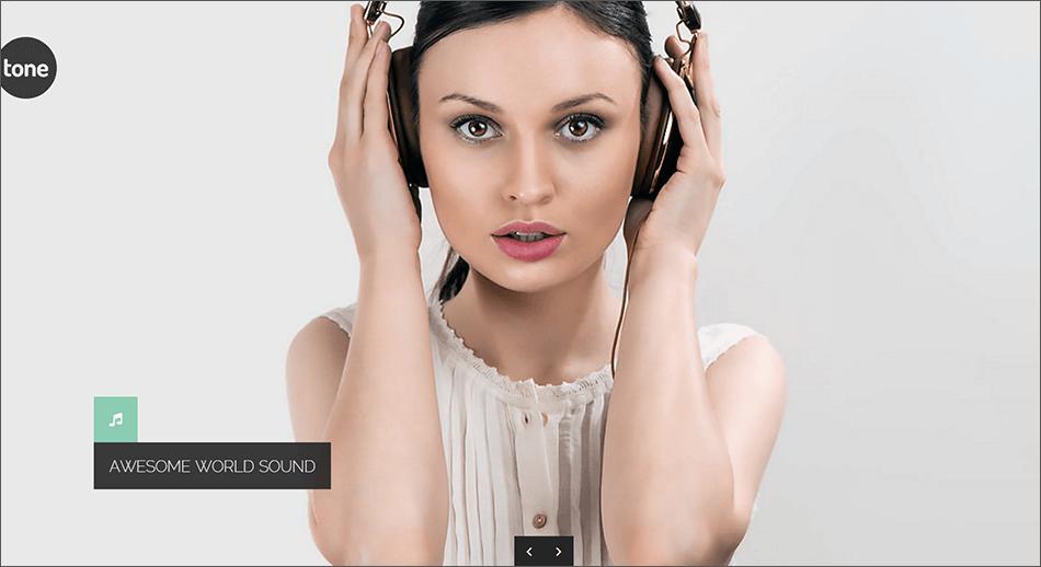 Multimedia Music Blog Template