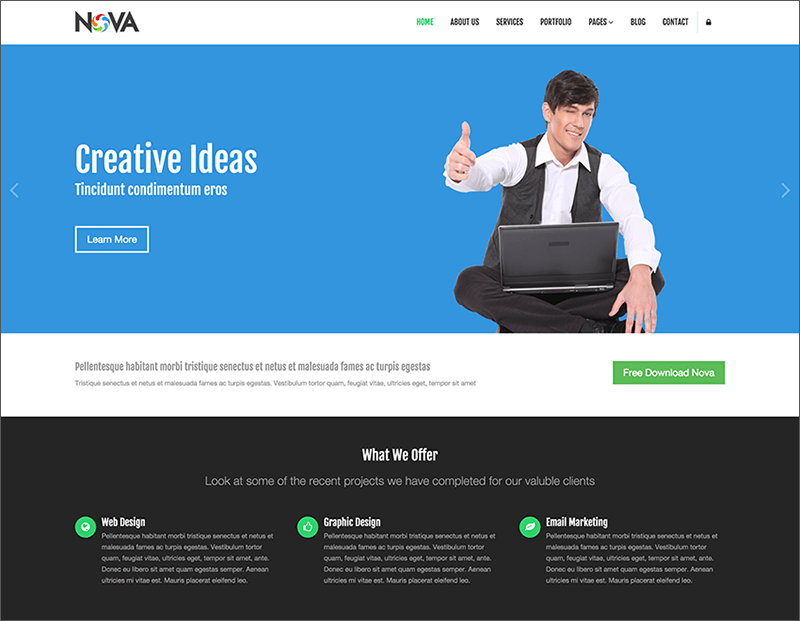 Multipurpose Bootstrap Template Free