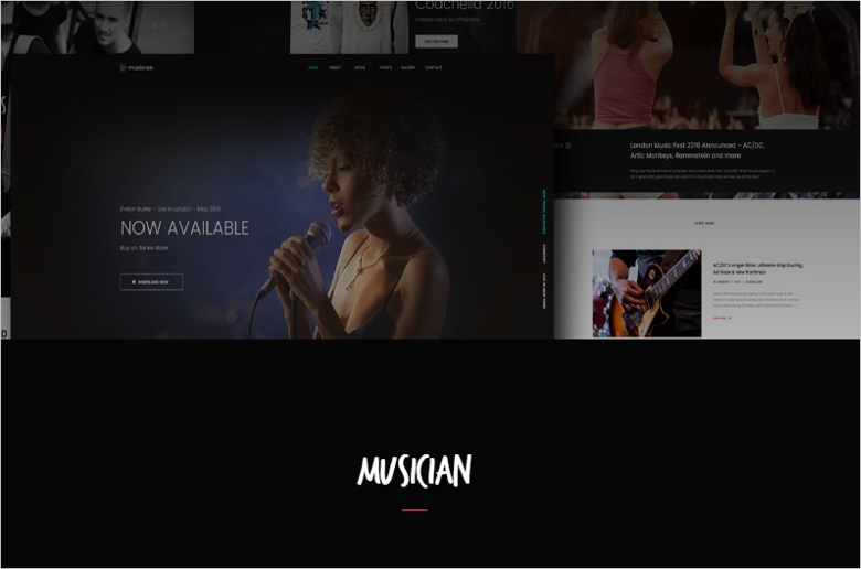 Music Band Blog Template