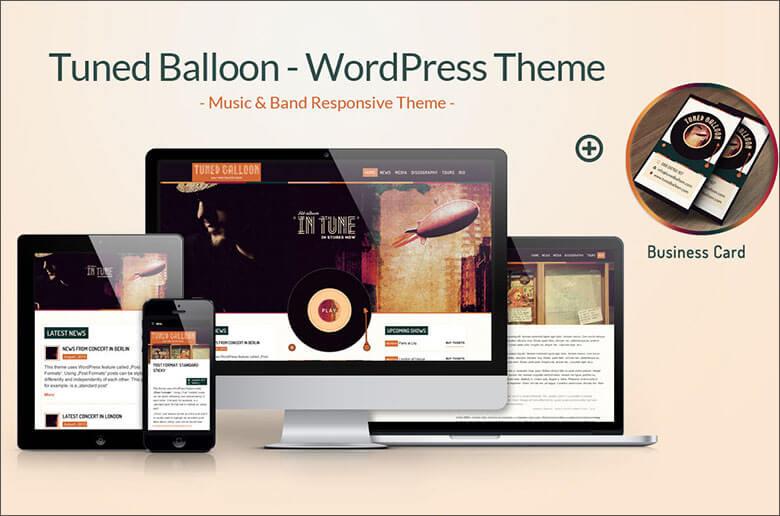 Music & Band WordPress Blog Theme