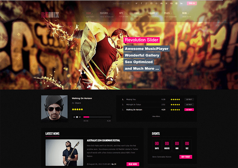Music Blog HTML5 Template