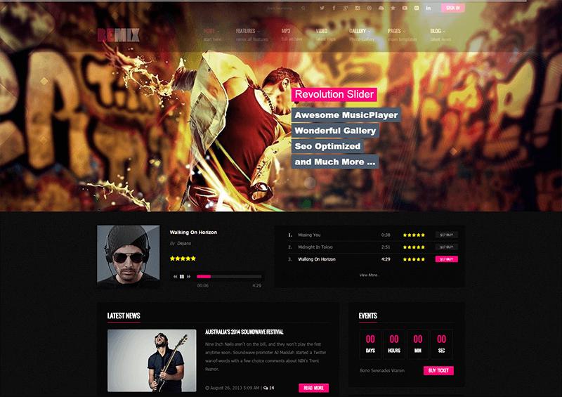 Music Blog HTML5 Template