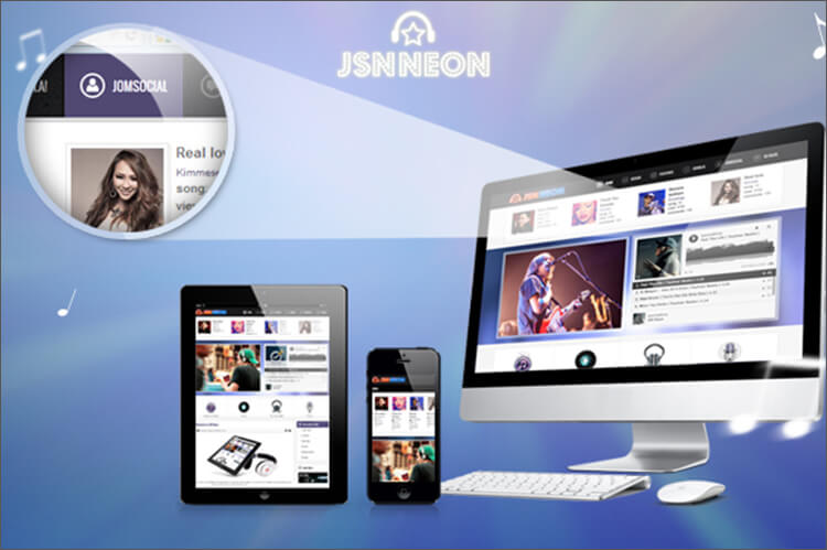 Music Blog Joomla Theme