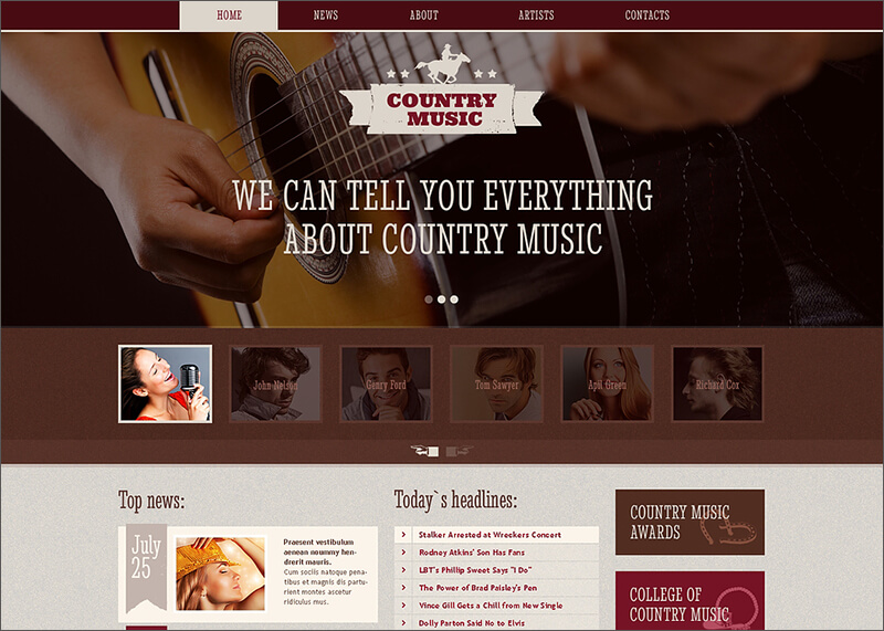 Music Blog Responsive Website Template