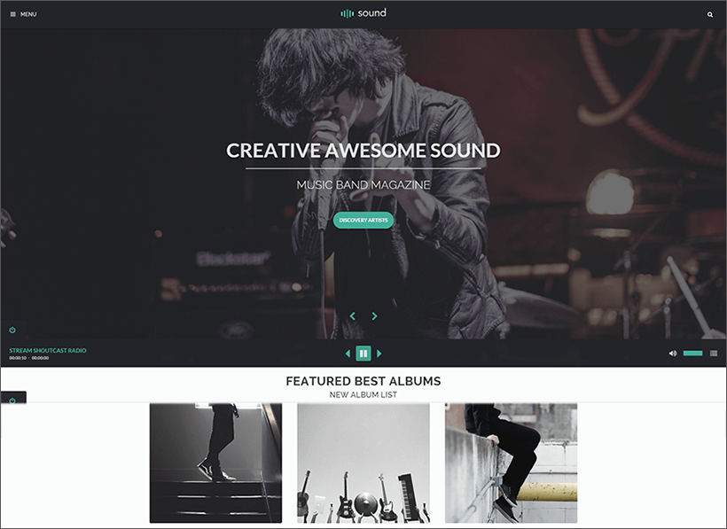 Music Blog Theme