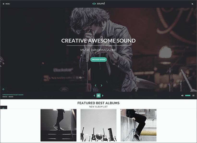 Music Blog Theme