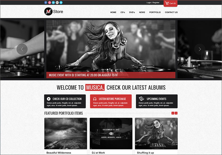 Music Blog WP Template