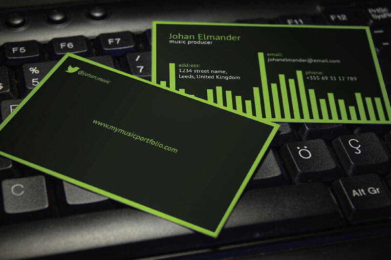 32 dj business card templates free download