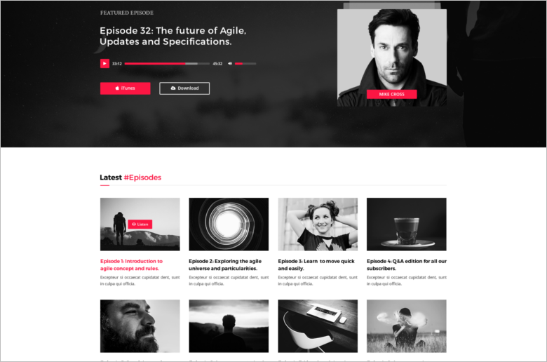 Music PSD Blog Template