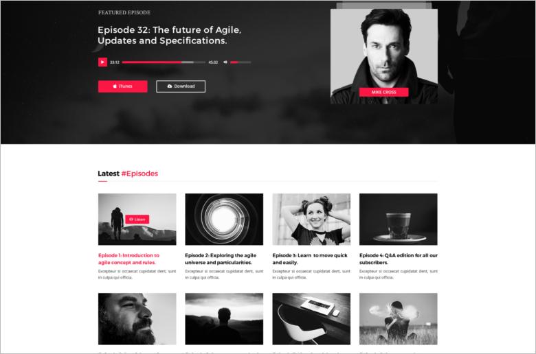 Music PSD Blog Template