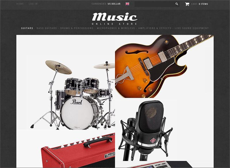 Music Shop Zen Cart Template