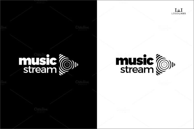 Music Stream Business Card Logo