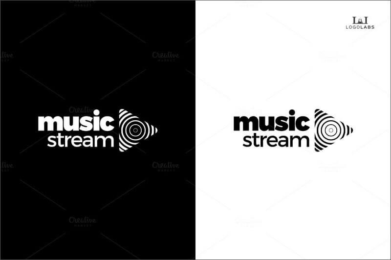 Music Stream Business Card Logo